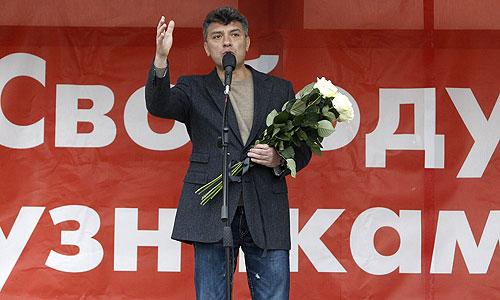 """Член бюро движения """"Солидарность"""", сопредседатель Партии Народной Свободы (ПАРНАС) Борис Немцов."""