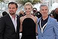 """Актеры Леонардо ДиКаприо, Кэрри Маллиган и режиссер Баз Лурман представили в Каннах фильм """"Великий Гэтсби""""."""