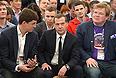 """Дмитрий Медведев на международной конференции для стартапов и инвесторов """"Startup Village"""" в здании Гиперкуба Инновационного центра """"Сколково""""."""