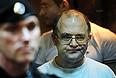 Сергей Кривов, обвиняемый в массовых беспорядках на Болотной площади 6 мая, в зале заседаний Мосгорсуда.
