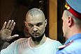 Владимир Акименков, обвиняемый в массовых беспорядках на Болотной площади 6 мая, в зале заседаний Мосгорсуда.