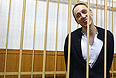 Солист Большого театра Павел Дмитриченко, обвиняемый по делу об организации нападения на художественного руководителя балетной труппы Большого театра Сергея Филина, во время рассмотрения ходатайства следствия о продлении срока содержания под стражей в Таганском суде.