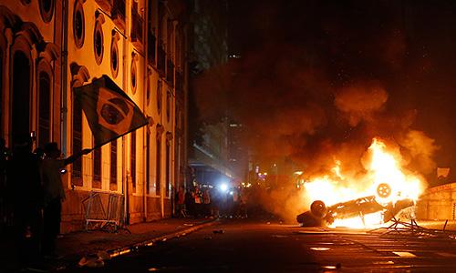 Протестные акции в Бразилии
