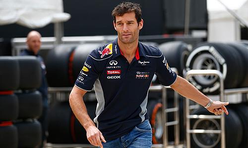 Гонщик команды Red Bull Марк Веббер.