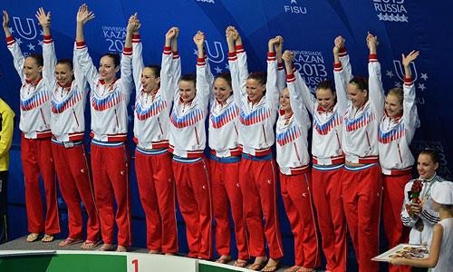 Сборная России по синхронному плаванию победила в комбинации!  Наши девушки набрали сумму 97,690 балла.