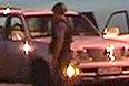 """По словам задержанных, они ехали в Дагестан. """"Полицейские были вынуждены применить к двум из задержанных спецсредства - наручники, так как они ведут себя крайне агрессивно, высказывают угрозы и даже плевали в видеокамеру, на которую полицейские снимали происходящее"""", - рассказала представитель ведомства."""