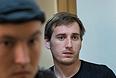 Один из опознанных нападавших Артур Минбулатов, обвиняемый по делу об избиении депутата госдумы от ЛДПР Романа Худякова, во время слушания по избранию меры пресечения в Дорогомиловском суде.