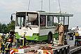 Спасательные службы работают на месте столкновения рейсового автобуса, который следовал из Подольска в Курилово, с КАМАЗом, который перевозил щебень. Крупное ДТП в Троицком административном округе Москвы привело к многочисленным жертвам.