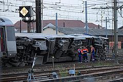 Во Франции с рельсов сошел поезд