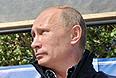 Владимир Путин посетил остров Гогланд в Финском заливе.