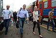 Кандидат в мэры Москвы, оппозиционер Алексей Навальный прибыл на оглашение приговора суда в Киров.