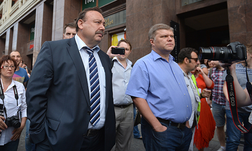 Акция сторонников Алексея Навального на Манежной площади.