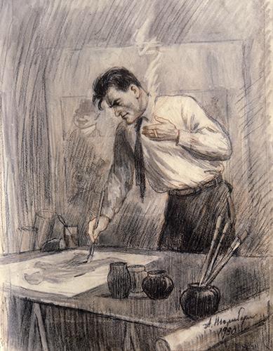 Маяковский рисует