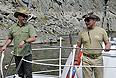 Дмитрий Медведев и Владимир Путин во время отдыха в Республике Тыва.