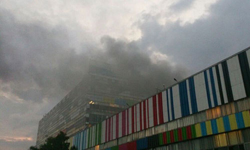 """Площадь пожара в """"Останкино"""" составила 200 квадратных метров."""