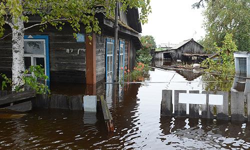 Подтопленные дома в селе Мазаново Мазановского района Амурской области. По сообщению регионального управления МЧС России, в девяти районах Амурской области подтоплены 34 населенных пункта из-за проливных дождей и паводка.