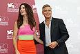 """Сандра Буллок и Джордж Клуни представили в Венеции фильм Альфонсо Куарона """"Гравитация""""."""