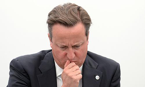 Премьер-министр Великобритании Дэвид Кэмерон на встрече Президента Российской Федерации Владимира Путина с представителями Business 20 и Labour 20.