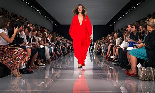 Показ коллекции Ralph Lauren весна-лето 2014.