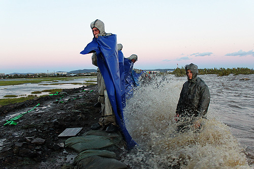 """Корреспондент """"Интерфакса"""" побывал в регионе, пострадавшем от наводнения."""