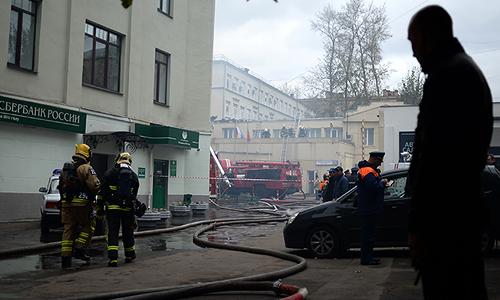 Пожар в здании управы района Беговой.