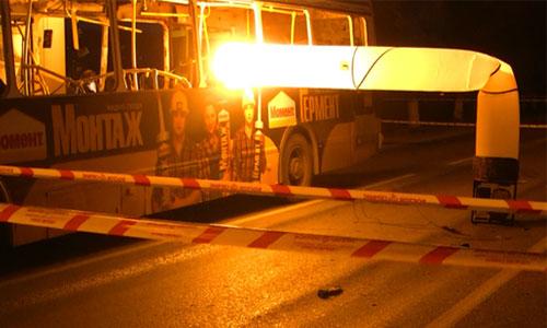 Пассажирский автобус, взорванный в понедельник днем террористкой-смертницей в Красноармейском районе Волгограда.