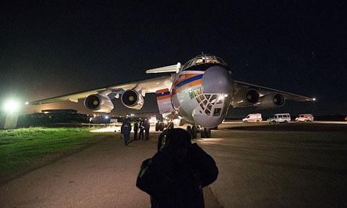 Самолет МЧС, доставивший в Москву пострадавших в результате теракта в Волгограде.