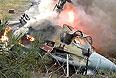 Вертолет Ка-52, потерпевший крушение на территории летного центра в московском районе Выхино-Жулебино.