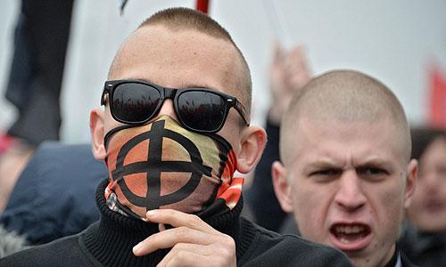 """Участники """"Русского марша - 2013"""" в Москве."""