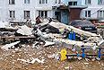 Девятиэтажный дом в поселке Загорские Дали на севере Московской области, в котором произошел взрыв бытового газа.
