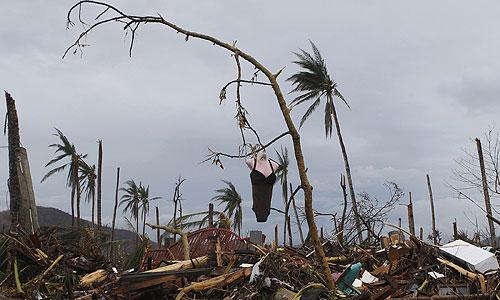 Последствия тайфуна на Филиппинах.