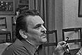 Юрий Яковлев и режиссер Государственного академического театра имени Вахтангова Евгений Рубенович Симонов во время чтения пьесы перед постановкой. 1973 год