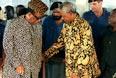 Во время прес-конференции с Мобуту.