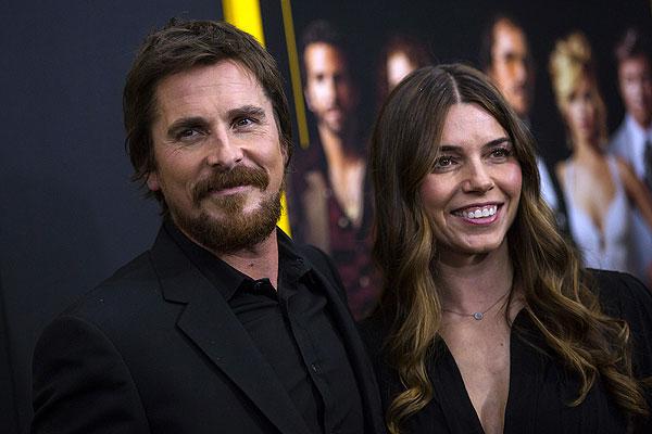 Актер Кристиан Бейл с женой Сиби Блазич.