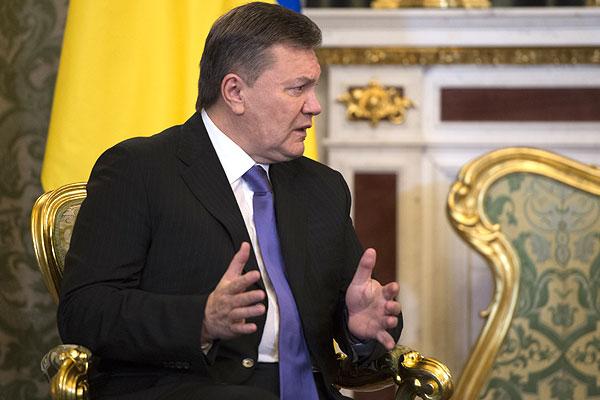 Президент Украины Виктор Янукович во время встречи в Кремле.
