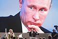 19 декабря 2013. Журналист Мария Соловьенко задает вопрос президенту России Владимиру Путину на большой ежегодной пресс-конференции в Центре международной торговли на Красной Пресне.