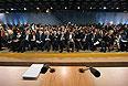 19 декабря 2013. Журналисты перед началом большой ежегодной пресс-конференции президента России Владимира Путина в Центре международной торговли на Красной Пресне.