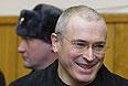 Экс-глава ЮКОСа Михаил Ходорковский в Хамовническом суде Москвы.