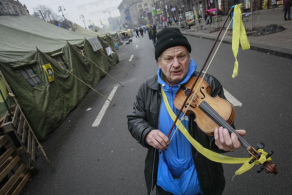 Украинские скрипачи - тоже за евроинтеграцию.