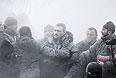 В Виталия Кличко попал противопожарный порошок.