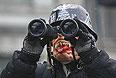 "Протестующие на баррикадах у стадиона ""Динамо"" в Киеве."