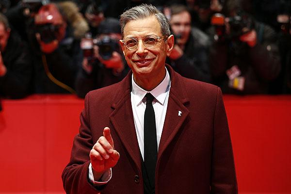 """Джефф Голдблюм перед показом фильма """"Отель """"Гранд Будапешт""""."""
