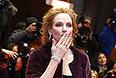 """Ума Турман перед показом режиссерской версии первой части """"Нимфоманки"""" Ларса фон Триера."""