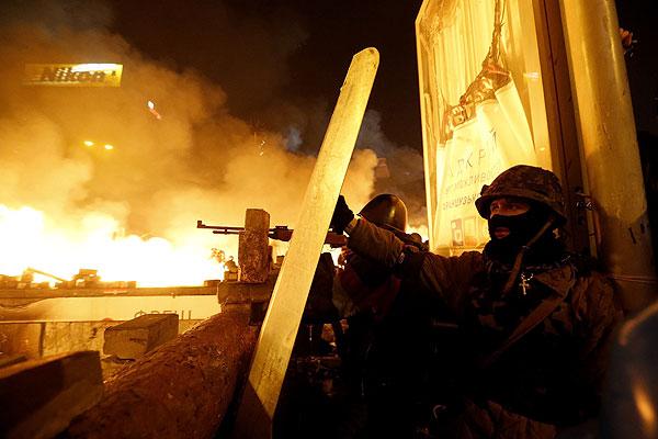 Участники самообороны Майдана.