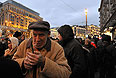"""Президент Фонда """"Индем"""" Георгий Сатаров на Манежной площади во время акции протеста сторонников фигурантов """"болотного дела""""."""