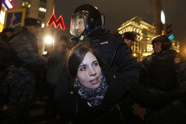Участница группы Pussy Riot Надежда Толоконникова.