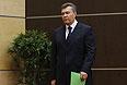 Янукович начал общение с прессой с обращения.