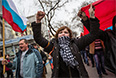 Участники пророссийского митинга.