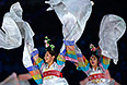 Презентация Паралимпиады 2018 в корейском Пхенчхане во время церемонии закрытия XI зимних Паралимпийских игр в Сочи.