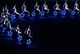 Артисты выступают во время театрализованного представления на церемонии закрытия XI зимних Паралимпийских игр в Сочи.